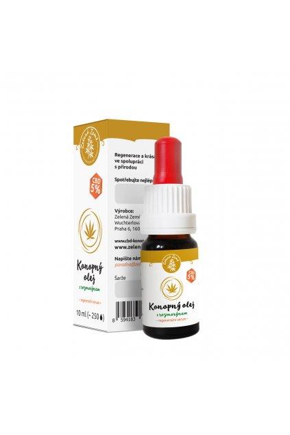 CBD olej 5% s rozmarýnem regenerační sérum 10 ml