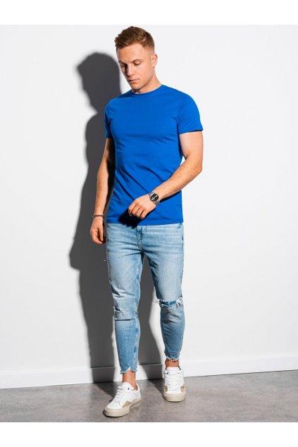 Jednobarevné pánské tričko S1370 - modrá