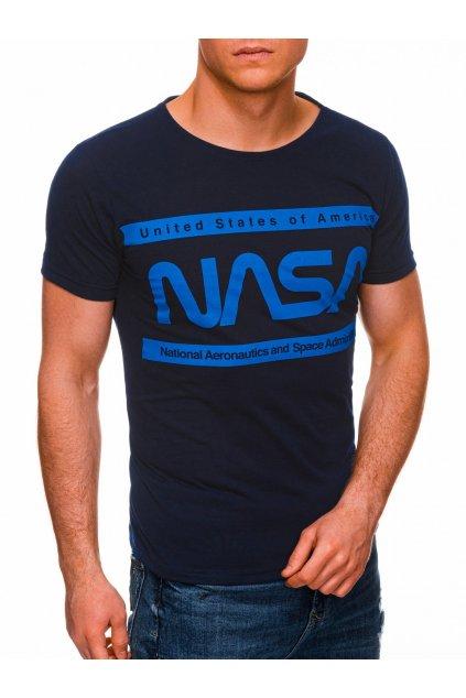 Pánské tričko s potiskem NASA S1435 - tmavě modrá
