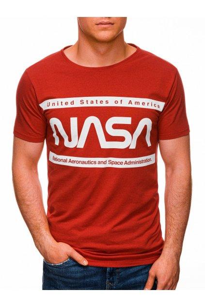 Pánské tričko s potiskem NASA S1435 - červená