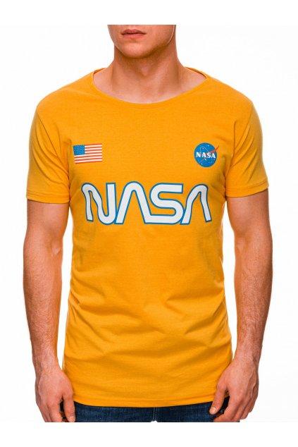 Pánské tričko NASA S1437 - žlutá