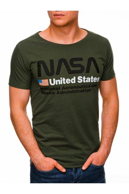 Pánské tričko NASA S1436 - zelená