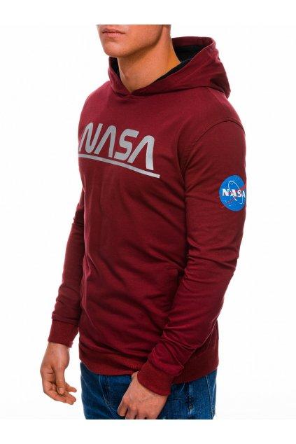 Pánská mikina NASA s kapucí B1273 - vínová
