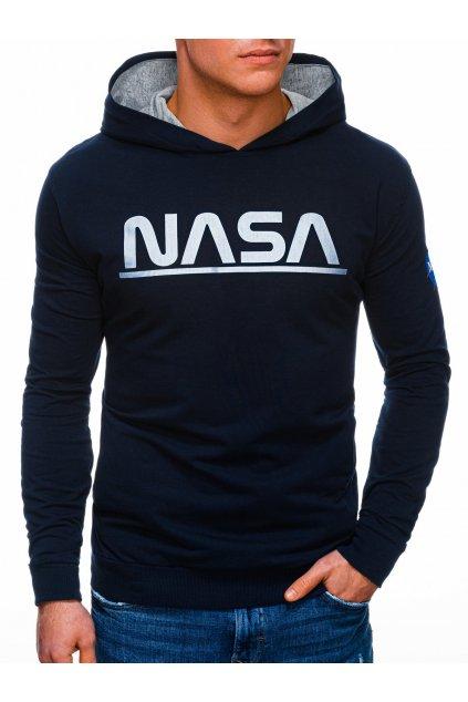 Pánská mikina NASA s kapucí B1273 - tmavě modrá