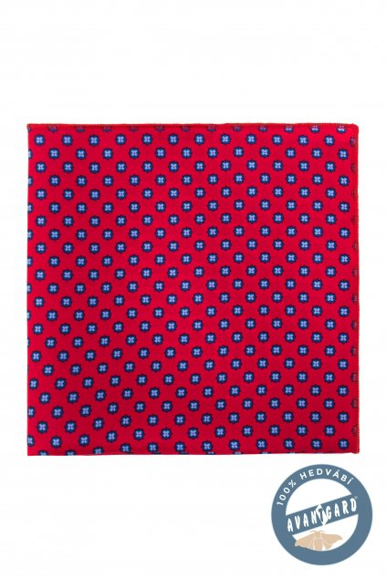 Červený hedvábný kapesníček