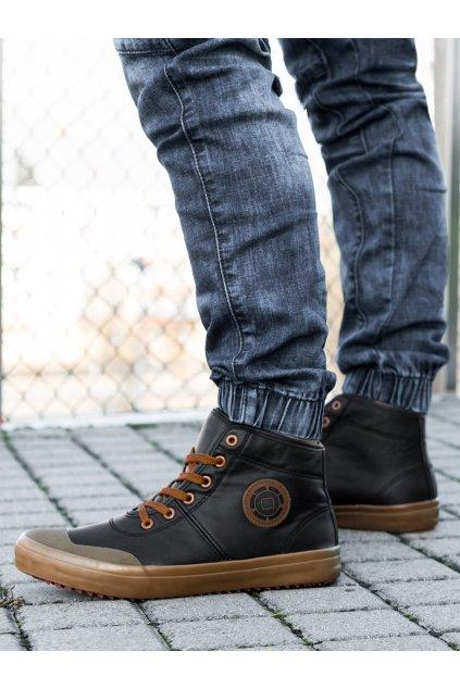 Men's ankle shoes T329 - black