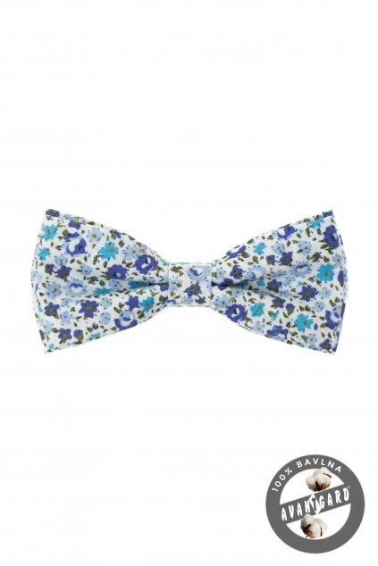 Modrý bavlněný motýlek
