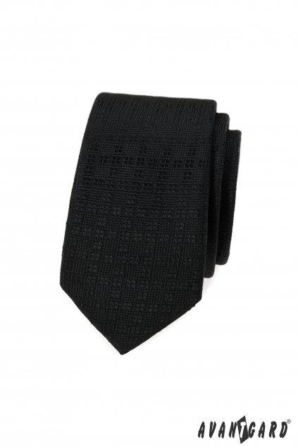 Černá slim kravata