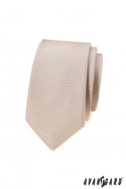 Béžová slim kravata