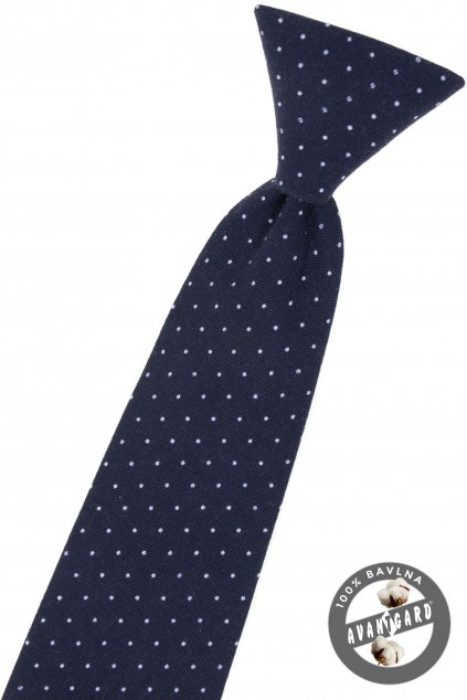 Modrá chlapecká kravata
