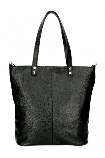 Kožená velká dámská shopper kabelka Juliette černá