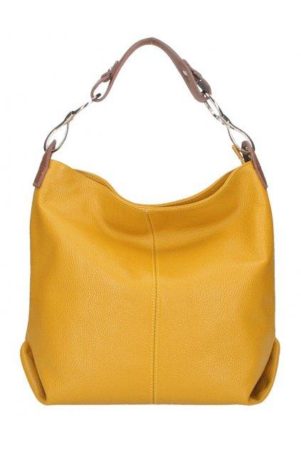 Kožená dámská kabelka Shaila hořčicová žlutá