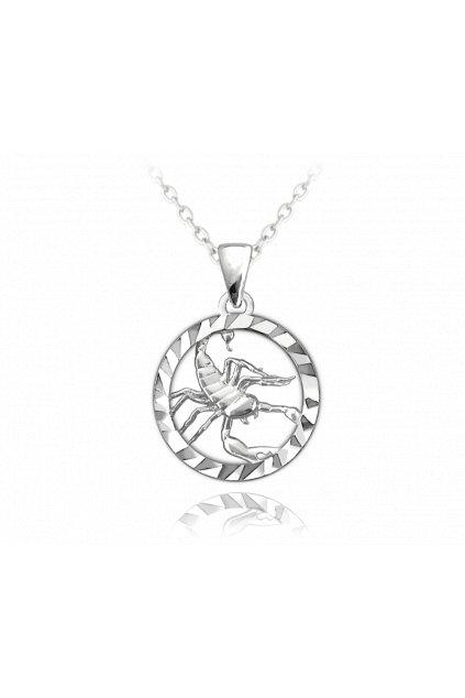 MINET Stříbrný náhrdelník  Zodiac znamení ŠTÍR JMAS9411SN45