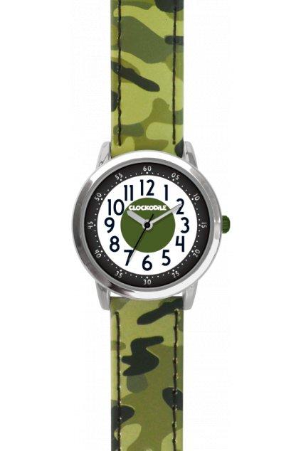 CLOCKODILE Svítící neonově zelené sportovní dětské chlapecké hodinky  SPORT 3.0 CWB0047