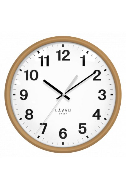 LAVVU Tmavé dřevěné hodiny s plynulým chodem  ESSENTIAL WOOD LCS4041