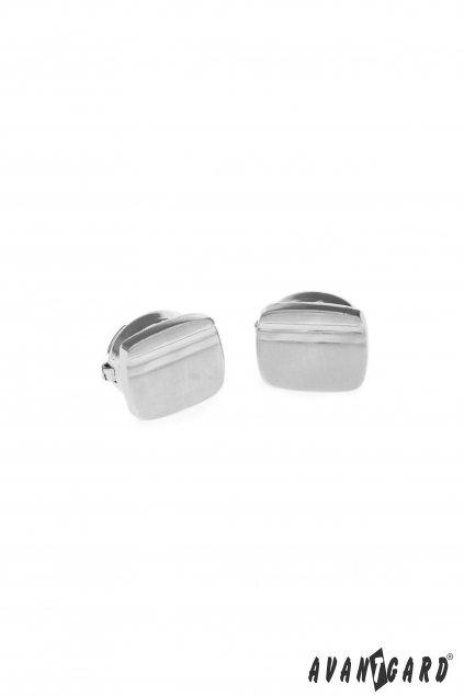 Manžetové návleky na knoflíčky ve stříbrné barvě