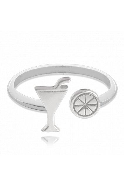 MINET Letní nastavitelný stříbrný prsten JMAS8031SR00
