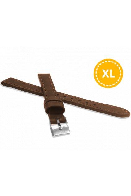LAVVU XXL Prodloužený prošitý hnědý řemínek  SPORT z luxusní kůže Top Grain - 24 XXL LSAXE24