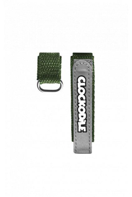 CLOCKODILE Reflexní zelený řemínek na suchý zip k dětským hodinkám CSX0023