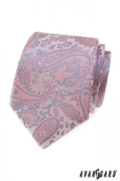 Pudrovo-šedá kravata