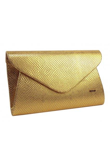 Luxusní zlaté dámské psaníčko v hadím motivu SP126 GROSSO