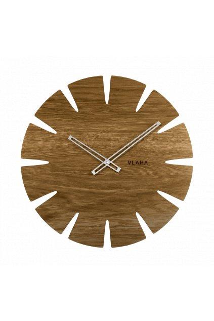 VLAHA Velké dubové hodiny  ORIGINAL vyrobené v Čechách se stříbrnými ručkami VCT1031