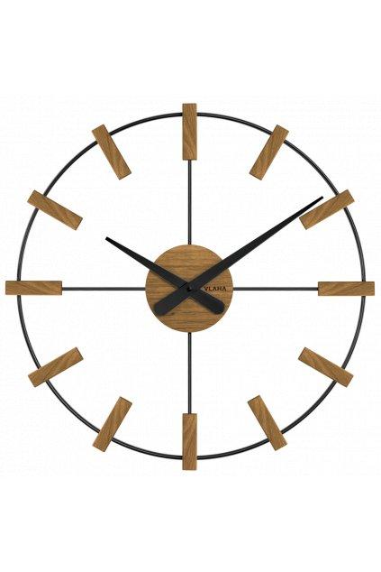 VLAHA Dřevěné černé hodiny  STUDIO vyrobené v Čechách VCT1062