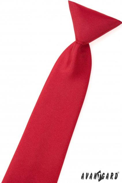 Matná červená dětská kravata