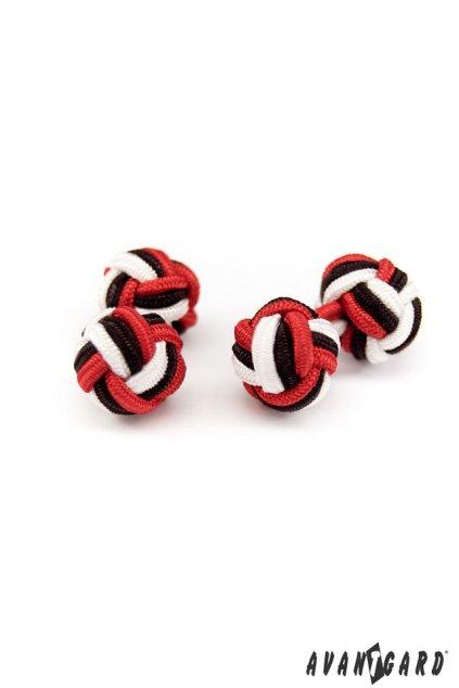 Černo-červeno-bílé manžetové uzlíky