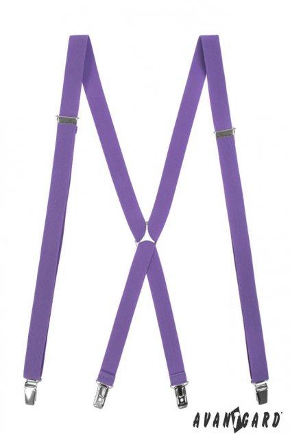 Úzké světle fialové kšandy X