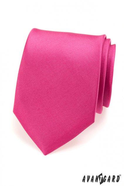 Matná tmavě růžová kravata