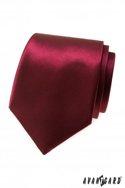 Lesklá vínová kravata