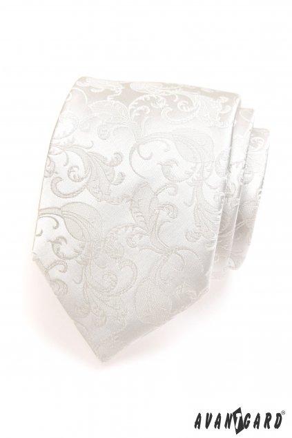 Zdobená smetanová kravata