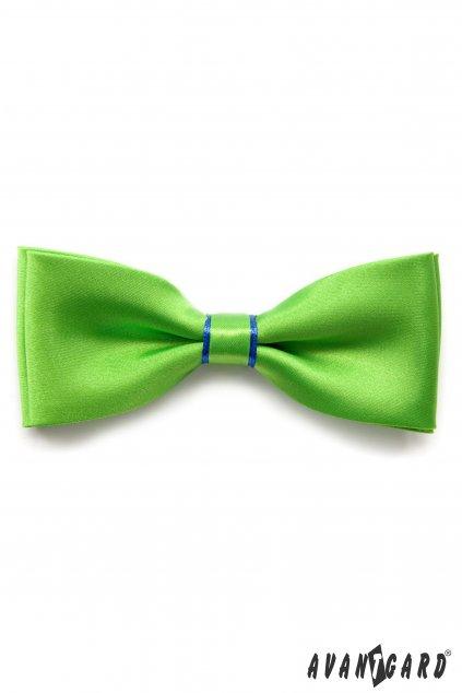Zelený motýlek s modrým detailem + modrý kapesníček