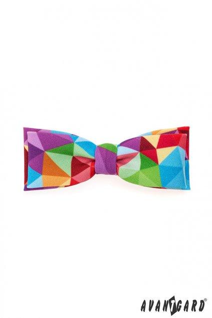 Vícebarevný motýlek –  trojůhelníky