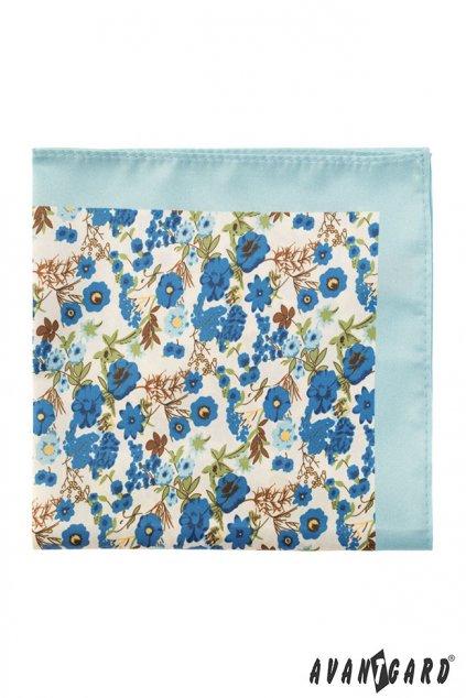 79846 79846 svetle modry kapesnicek do saka barevne kvetiny