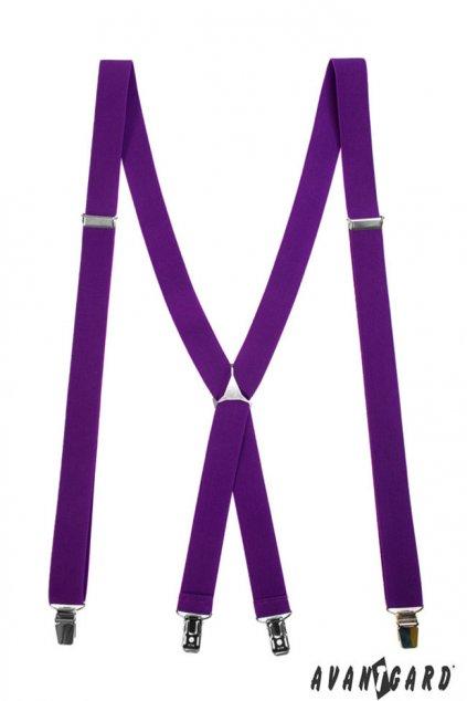 Úzké fialové kšandy do X