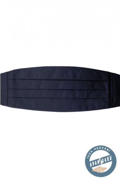 Hedvábný tmavě modrý smokingový pás