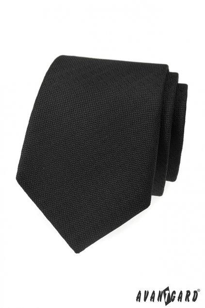 Jednoduchá černá kravata