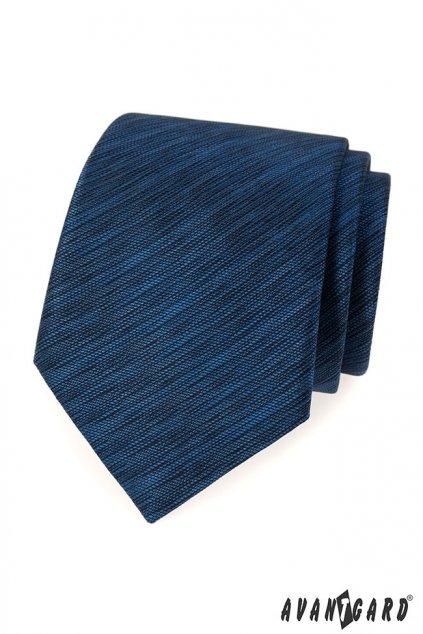 Modrá žihaná kravata