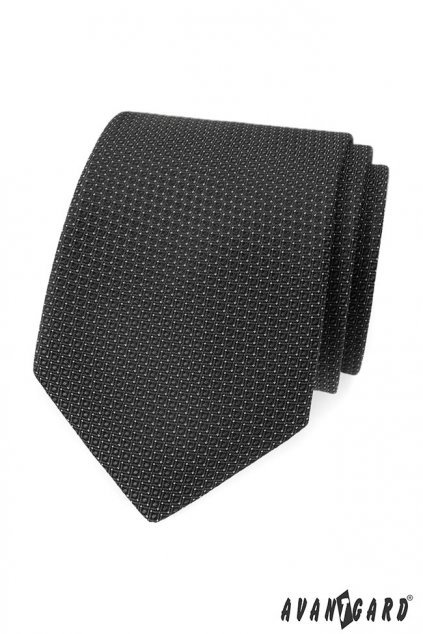 Šedá vroubkovaná kravata