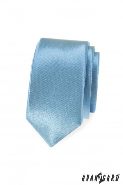 Světle modrá slim kravata