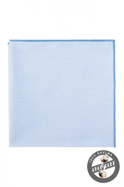 Světle modrý kapesníček s modrým okrajem