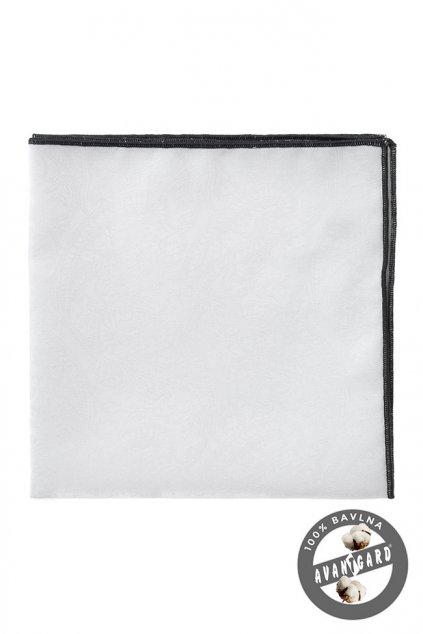Bílý kapesníček s černým okrajem