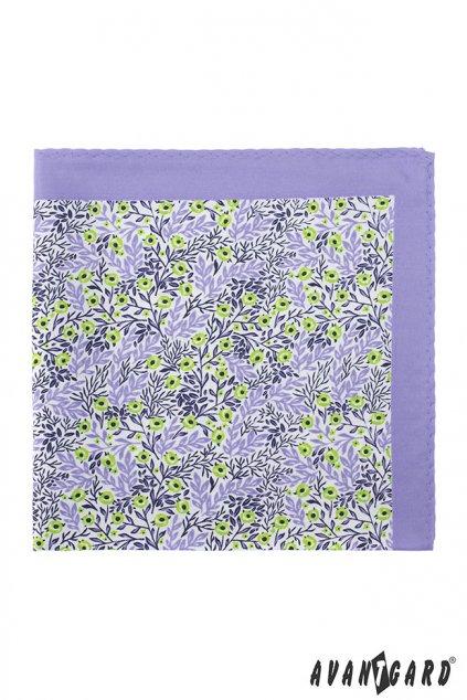 Fialový vzorovaný kapesníček