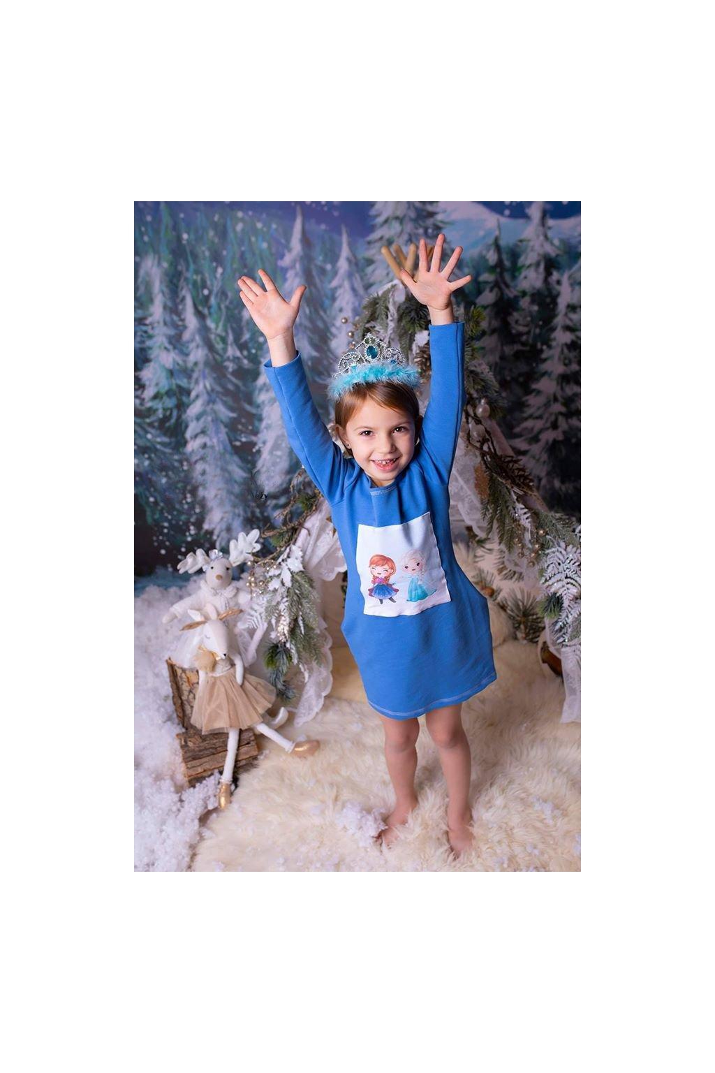 "Wowmini - Šaty ""frozen"" (Barva modrá, Velikost 140)"