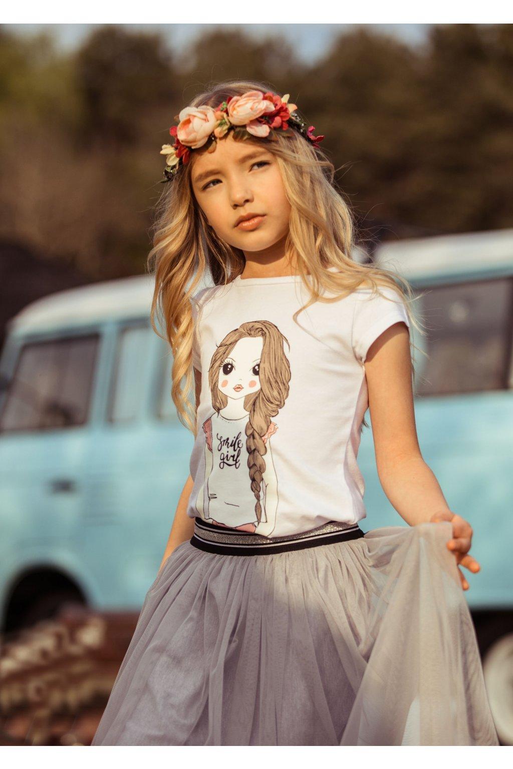 """ALL FOR KIDS - Tričko """"doll"""" (Barva bílá, Velikost 152/158)"""