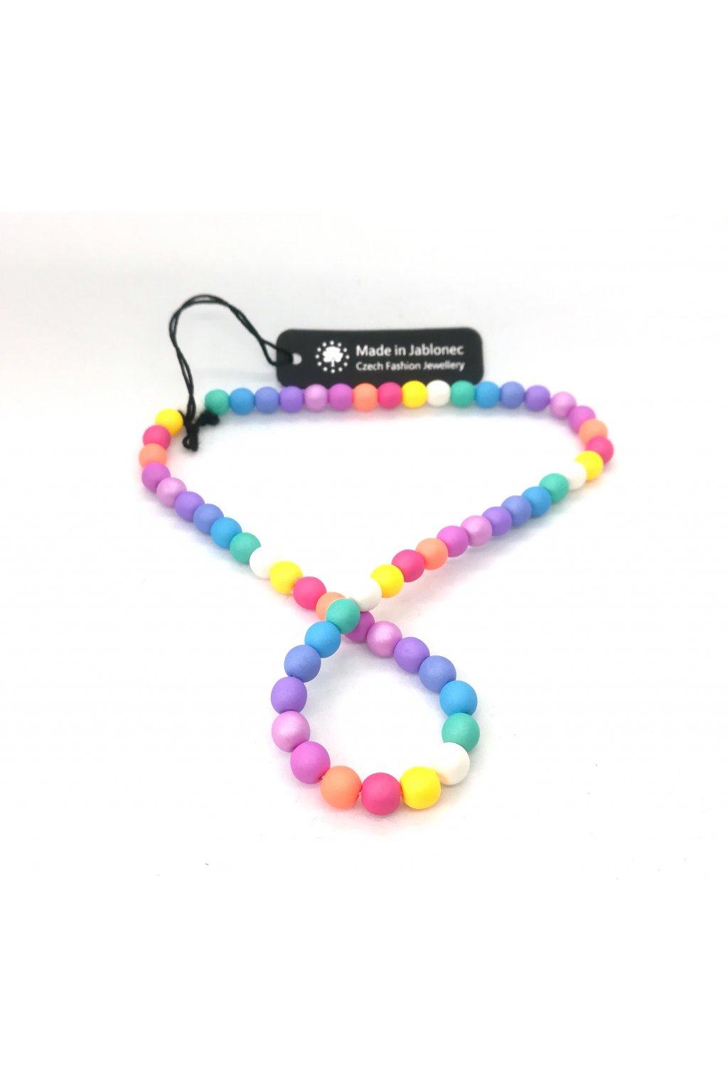 Wowmini - Náhrdelník neon Nicole (Barva pudrová, Velikost UNI)