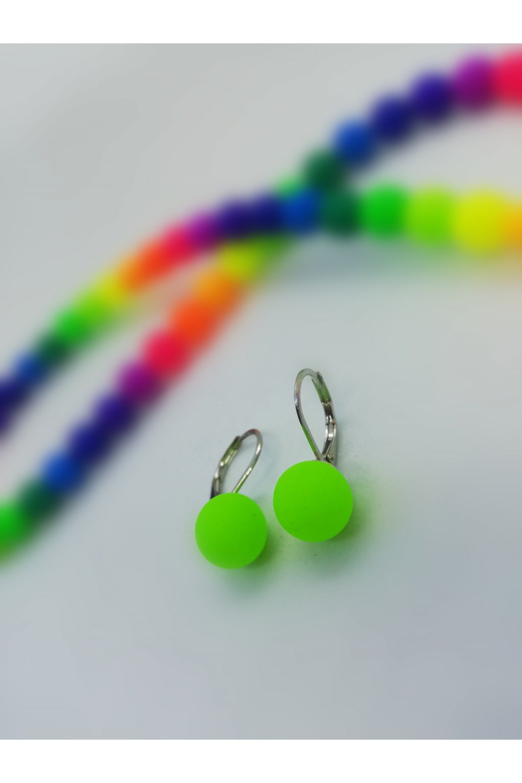 Wowmini - Neonové náušnice (Barva zelená, Velikost UNI)