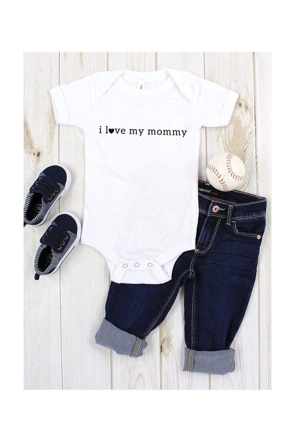 "I LOVE MILK - Body ""I love my mummy"" (Barva světle modrá, Velikost 86/92)"